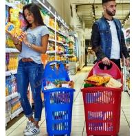 Cosuri cumparaturi cu rotile pentru magazine