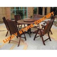 Set lemn masa si scaune terasa
